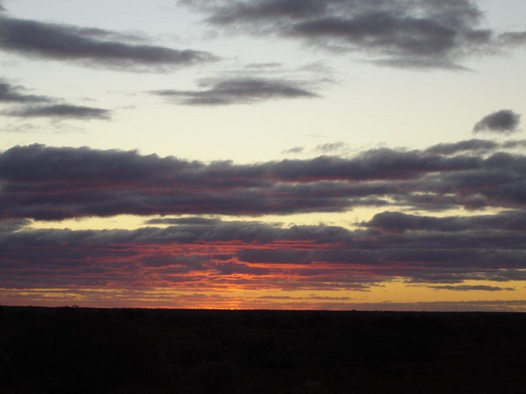 Nullarbor sunset