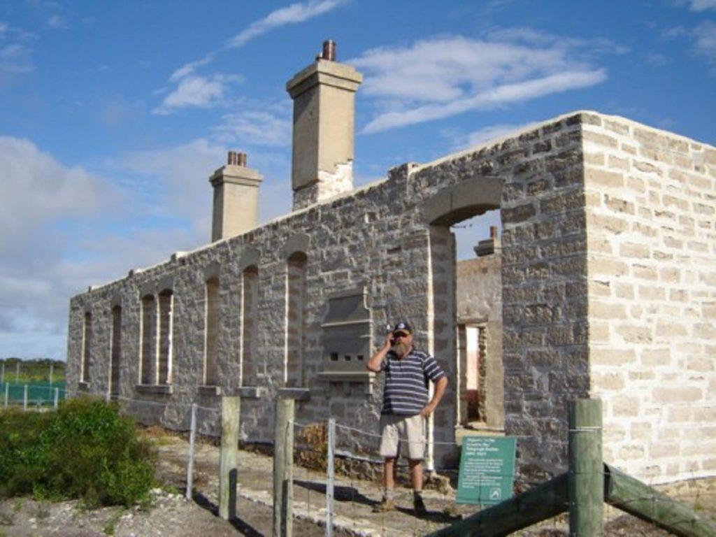 Making a call at Old Telegraph Station