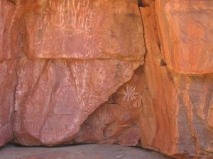 Rock Art in Trephina Gorge