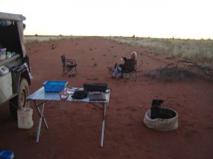 Chilla Well airstrip camp