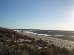 Tide's out at Pardoo Beach