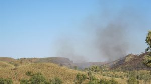 Saw-Pit Gorge on fire