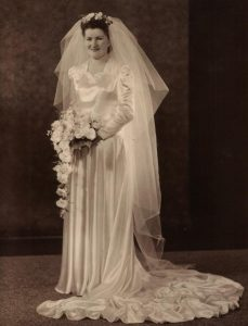 Edith on her wedding day