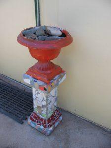 Mosaic pedestal, by Judith