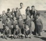 Under 14 team Victoria West High School 1956 - Sitting: ?, Gert Cloete, Heinz Meissner, Kneeling: Garth Cloete, Espie Tredoux, Charles Stevens, Hennie Barnard, Johan Sinclair. Standing: Okkerd de Lange, Isak de Vries, Christo le Roux, Willem Kempen(Captain), Mr Basson(Coach),  Chris van der Merwe, Bennie Hugo