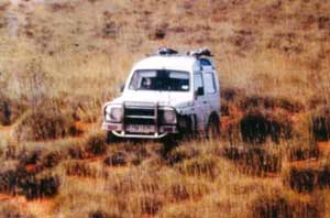 Heavy going across the spinifex