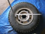 Using tyre;evers to oosen the rim