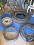 Split rim, Centre rim, Tube, Rust guard and Tyre