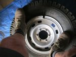 Using a Rubber Mallet or Working Man's Boots, clamp Split Rim over the Centre Rim making sure it is a snug fit