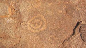 Water symbol petroglyph