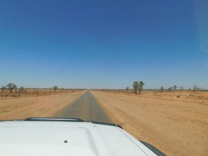 Strip road out of Dajarra