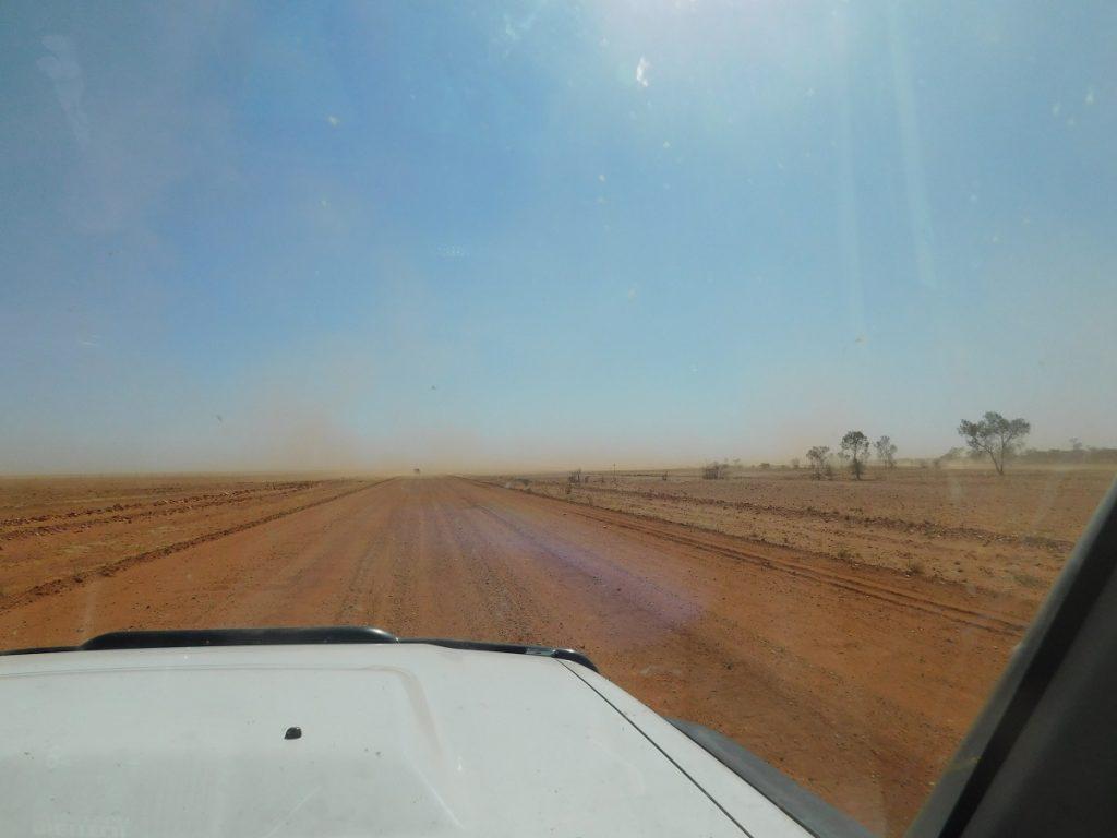 Swallowed by dust