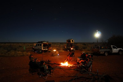 Campfire in the Great Sandy Desert