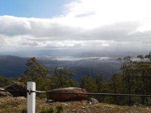 Hobart from below the mist line