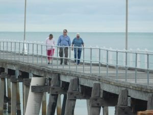 Walking the jetty at Port Neill